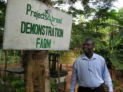 La fattoria biologica sede del progetto di agricoltura biologica in Ghana