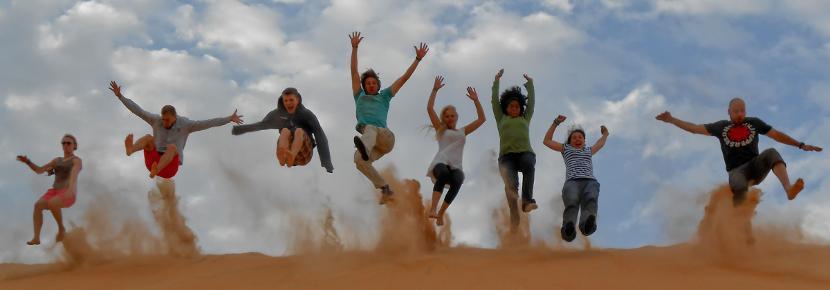 Un gruppo di volontari internazionali