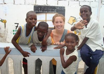 Volontaria del progetto Costruzioni & corso di francese in Senegal