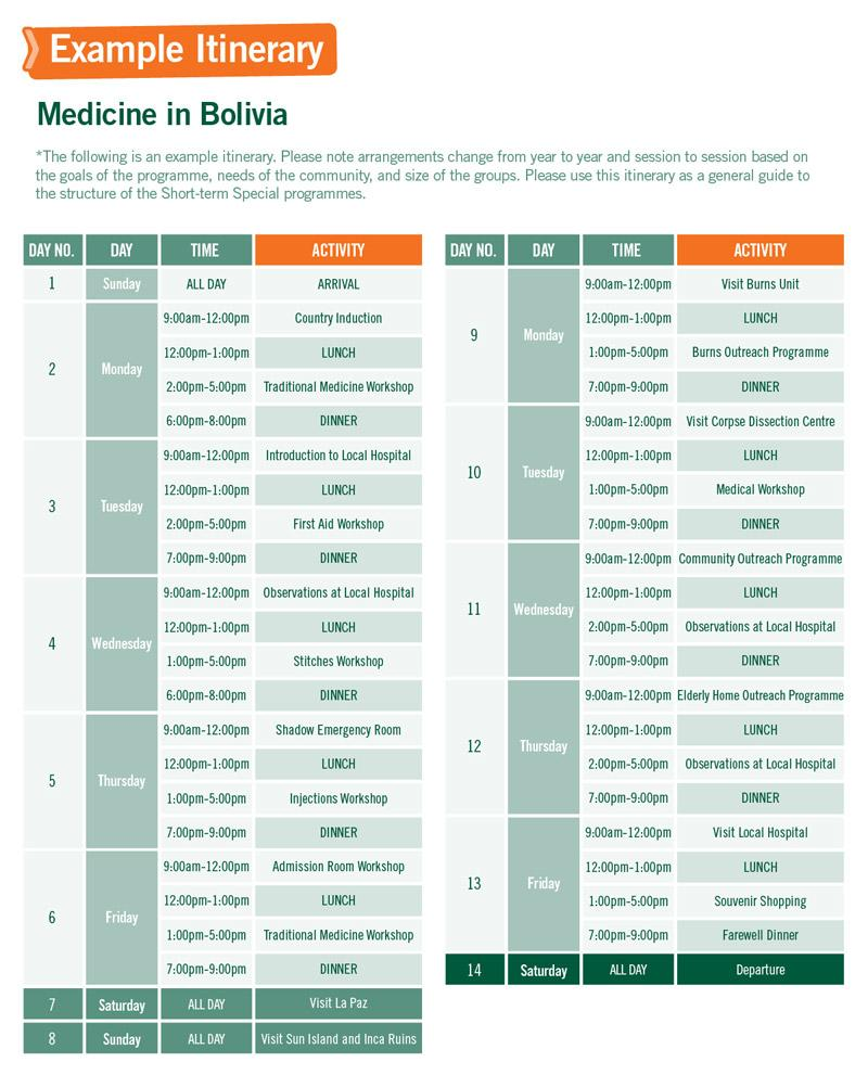 Short-term Special Volunteer Trips with Medicine in Bolivia