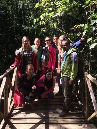 Un gruppo di volontari di ProjectsAbroad visitano una foresta in Madagascar accompagnati da una guida locale