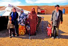 Una famiglia di nomadi in Marocco