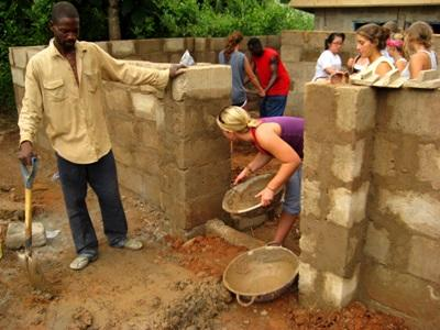 Campi di costruzioni in Ghana