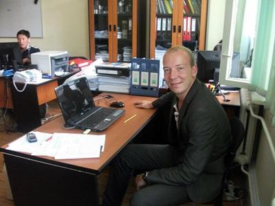 Un volontario del progetto di economia in Mongolia