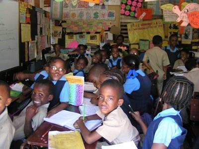 Una classe aderente al progetto di insegnamento in Giamaica