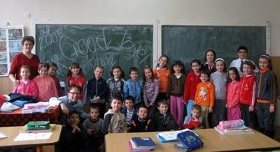 Una classe aderente al progetto di insegnamento in Romania