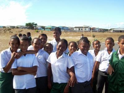 Una classe aderente al progetto di insegnamento in Sudafrica