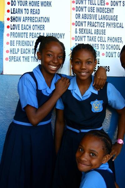 Una scuola in cui si tengono le campagne di sensibilizzazione promosse dal progetto in diritti umani in Giamaica