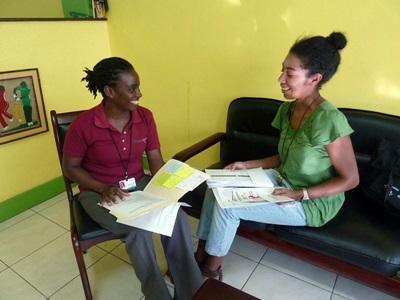 Membri dello staff del progetto in legge e diritti umani in Giamaica