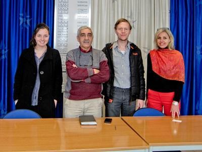 Un gruppo di volontari del progetto in diritti umani in Marocco