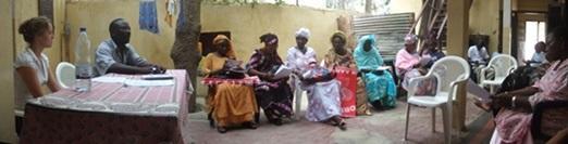 Volontari del progetto di legge e diritti umani in Senegal, durante una campagna di sensibilizzazione