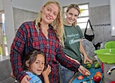 Volontari per il progetto di nutrizione in Bolivia