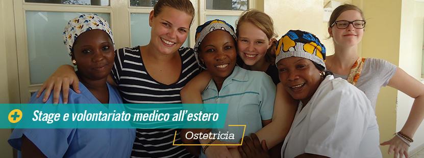 Volontarie del progetto di ginecologia in Tanzania con staff locale