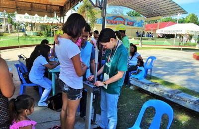 Stage di salute pubblica nelle Filippine