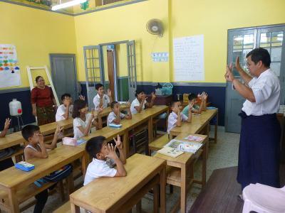 La scuola per bambini sordi del progetto di volontariato con bambini in Birmania