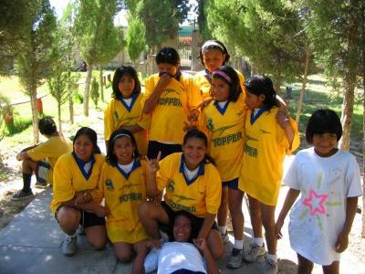 Allievi del progetto di pallavolo a Cochabamba, Bolivia