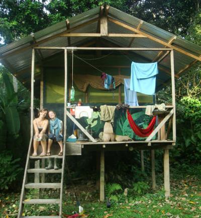 Alloggio dei volontari del progetto ambientale nella Riserva Taricaya in Perù