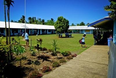 La scuola sede del progetto di volontariato di insegnamento alle Samoa