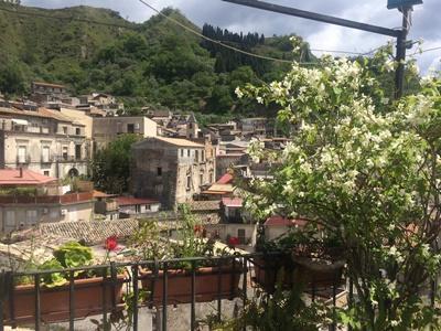 La vista da una terrazza di Reggio Calabria