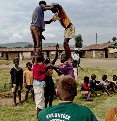 Castello di bambini in Kenya
