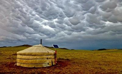 Vista di un alloggio del progetto nomadi in Mongolia