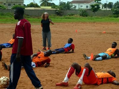 Allenamenti di calcio in Togo