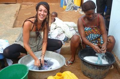 Volontaria al lavoro in Togo